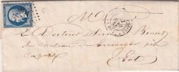 1855. LETTRE. N° 14 BELLES MARGES. PAS DE CALAIS. ST DENIS-S-SEINE PC 3041  / 6892 - Marcofilia (sobres)