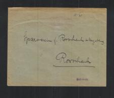 Dt. Reich Brief 1923 Freistempel Ulm In Die Schweiz Gelaufen - Deutschland