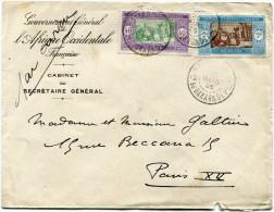 SENEGAL LETTRE PAR AVION DEPART DAKAR 10 MARS 26 Cion DE DAKAR & DEPces POUR LA FRANCE - Lettres & Documents