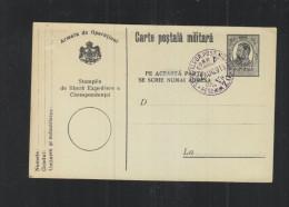 Romania Stationery 1916 Military Pmk - Ganzsachen