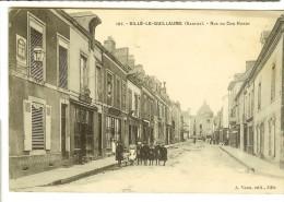 A.Veau Ed - 107- Sille Le Guillaume, Rue Du Coq Hardi - Verso Semeuse 10c 1912 Avec 3 CachetsBrest, St Jean De Braye - Sille Le Guillaume