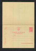 Romania Stationery With Reply 3,50 Lei Unused - Ganzsachen
