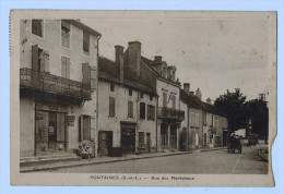 9101    Cpa  FONTAINES  : Rue Des Maréchaux  1938 ( Coupé En Bas Droit ) - Non Classificati
