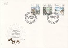 ASTROLOGY, CANCER, LEO, VIRGO, HOROSCOPE SIGNS, EMBOSSED COVER FDC, 1983, SWITZERLAND - Astrology
