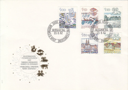 ASTROLOGY, AQUARIUS, PISCES, ARIES, TAURUS, GEMINI, HOROSCOPE SIGNS, EMBOSSED COVER FDC, 1982, SWITZERLAND - Astrology