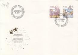 ASTROLOGY, SAGITTARIUS, CAPRICORN, HOROSCOPE SIGNS, EMBOSSED COVER FDC, 1984, SWITZERLAND - Astrology
