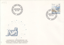 ASTROLOGY, VIRGO, HOROSCOPE SIGNS, EMBOSSED COVER FDC, 1983, SWITZERLAND - Astrology