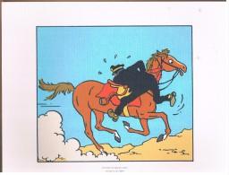 PLANCHE DESSIN TINTIN.....26 Strip 9 - Platten Und Echtzeichnungen