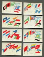 LOT De 8 CARTES  - Collection Des DRAPEAUX Des NATIONS UNIES - Edition U.P.S.A. => Voir Les SCANS Détaillés à La Suite - Cartoline