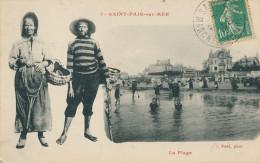 St Pair Sur Mer. La Plage. (un Couple à La Pêche à Pied) - Saint Pair Sur Mer