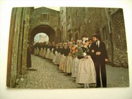 SCANNO  CORTEO  NUZIALE   NOZZE  WEDDING  MATRIMONIO  MARRIAGE  SPOSO  GROOM   NON  VIAGGIATA COME DA FOTO - Nozze