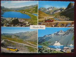 Davos (GR) - Mehrbildkarte Flüela-Pass / Autobus / Omnibus - GR Graubünden