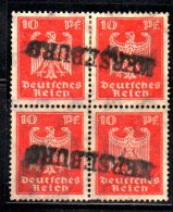 GERMANIA 1924, Quartina Usata Del N. 350 . Punto Di Abrasione - Germania
