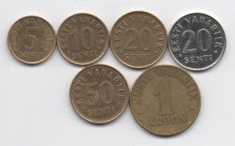 Estonie : Série De 6 Pièces 1992-2004 - Estonia