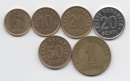 Estonie : Série De 6 Pièces 1992-2004 - Estonie