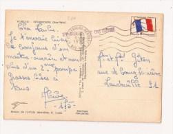 Linéaire  1 Er REGIMENT DU GENIE Timbre Drapeau N° 13 Sur Carte - Franchise Militaire (timbres)
