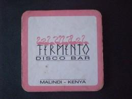 "SOTTO BICCHIERE DISCO BAR ""FERMENTO"" MALINDI - KENYA - Beer Mats"