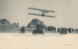 Berck-Plage. Expérience De L´Aéroplane Archdeacon. 1904 - Berck