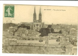 207 Niort Vue Prise Du Donjon Timbre Recto 1908 - Niort