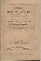 SOLFEGE Des SOLFEGES  - H. LEMOINE   -  Volume 1a - Musique & Instruments