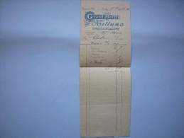 Facture Illustrée 1905 Grand Hôtel Nettuno Tenu Par P. Feroci  à Naples ?  Format A5 Long - Italia