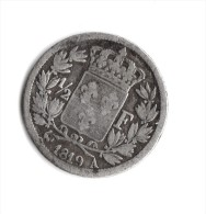 1/2  Franc 1819  A Louis XVIII - France