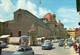 Firenze - Basilica Di San Lorenzo (animata Con Auto) - Firenze