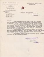 Lettre 1946 Maatschappij Vrachtvaart Contracting Of Steamers, Motorships  ROTTERDAM - Caboteur Admiraal De Ruyter - Pays-Bas