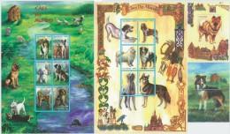 MOZAMBIQUE 1999 - Dogs 2 M/S + 2 S/S - Mi 1623-34 + B48-9, Sc 1349-52 - Honden