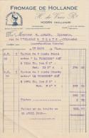 Facture 1929 H De VRIES Fromage De Hollande La Fermière Hollandaise HOORN - Pays-Bas