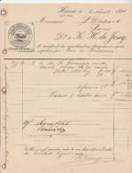 Facture 1894 K H De JONG  Fromage De Hollande HOORN - Pays-Bas