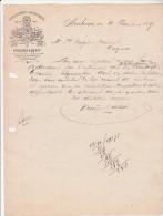Lettre 11/11/1893 KRUIJMEL & DEWIT Distilleerderij Likeurstokerij ARNHEM - Pays-Bas