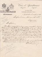 Lettre 1908 H W C Würdemann Vins Spiritueux AMSTERDAM - Pays-Bas