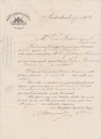 Lettre 1886 Manufacture Royale De Bougies  AMSTERDAM - Pays-Bas