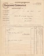 Facture De GONDECOURT ( Nord )  Huilerie Savonnerie Gardenne Cornaille  ( Recto Verso ) - 1900 – 1949