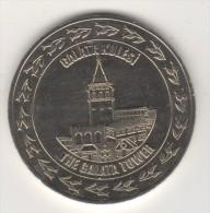 TURQUIE,TURKEI TURKEY THE TOPKAPI PALACE ,THE GALATA TOWER COMMEMORATIVE MEDAL - Autres