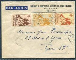 A.O.F. Abidjan Airmail Cover - Paris - A.O.F. (1934-1959)