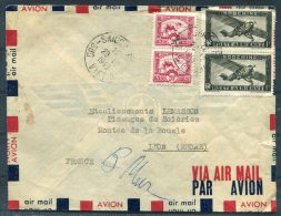 1949 Indocine Saigon South Vietnam Airmail Cover - Lyon, France - Indochina (1889-1945)