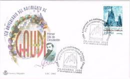 R 1066. Carta Exposicion BARCELONA 2002. Filabarna, Año Internacional GAUDI - 1931-Hoy: 2ª República - ... Juan Carlos I