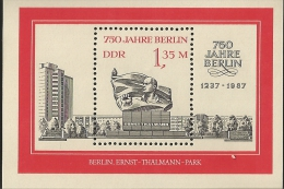 E)1987 GERMANY, ERNEST THÄLMANN, LEADER OF THE COMMUNIST PARTY OF GERMANY, PARK, MONUMENT, MNH - [6] Democratic Republic