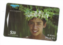 Carta Telefonica Isole Cook Island - Ei Katu  $ 20 -  Carte Telefoniche@Scheda@Schede @Phonecards@Telecarte@Tel Efonkart - Cook Islands