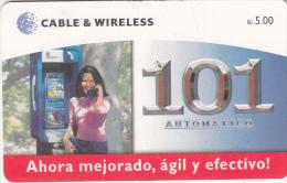 PANAMA(chip) - Girl On Cardphone, Chip GEM3.3, Used - Panama