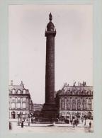 PARIS OBELISQUE VENDOME   TIRAGE UNIQUE DE 1890  FORMA 19,5 X 12 CM REMARQUEZ SANS VOITURES - Old (before 1900)