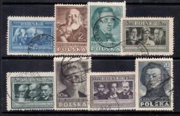 POLAND 1947  MICHEL NO: 455A-462A  USED - Usados