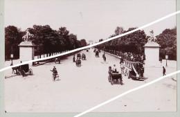 PARIS JARDIN PALAIS ROYAL CHAMPS ELYSEES TIRAGE UNIQUE DE 1890  FORMA 19,5 X 12 CM - Photographs