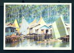PHILIPPINES  -  Basilan  Badjao Village  Unused Postcard - Philippines