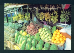 PHILIPPINES  -  Tagaytay  Fruit Stalls  Unused Postcard - Philippines