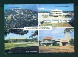 PHILIPPINES  -  Palawan  Multi View  Unused Postcard - Philippines