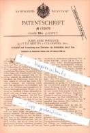 Original Patent  - James John Shedlock In Little Bentley B. Colchester, Engl. , 1904 , !!! - Colchester