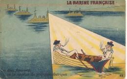 CPA-1915-HUMORISTIQUE-MARINE  NATIONALE-2 FLEMMARDS Ou Les SURPRISE Des PROJECTIONS ELECTRIQUES-BE - Guerre